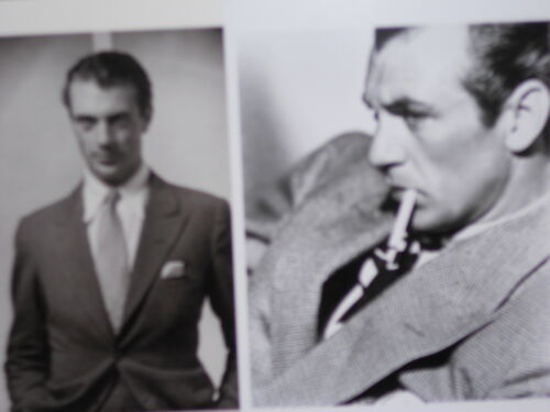 2 vintage photo postcards Gary Cooper film star 1930-34