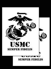 "Re-usable Airbrush Spray Paint Truck Stencils  9x12"" (Marines Semper Fidelis)"