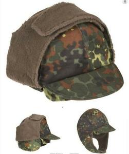 Original German army surplus winter hat cap with fold down ear ... 5f32fdf220d