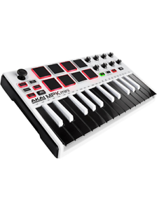 Akai Mpk Mini Mkii Compact Clavier Et Pad Controller Limited Edition White-afficher Le Titre D'origine Performance Fiable