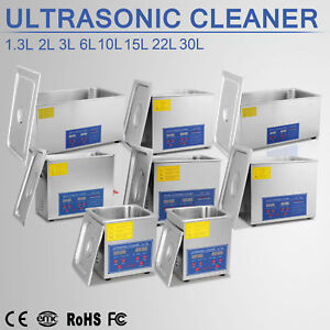 1.3L, 2L, 3L, 6L, 10L, 15L, 22L, 30L ULTRASONIC CLEANER CLEANING W/ Timer