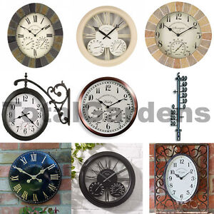 Image Is Loading Outdoor Indoor Garden Clocks Thermometer Barometer Selection Slate