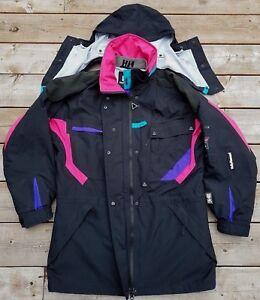 HELLY-HANSEN-HH-Equipe-Ski-Winter-Snowboard-Hooded-Jacket-Women-Sz-M-VTG