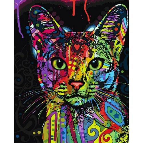 Cat Animals DIY Print By Numbers Kit Digital Oil Painting Art Home Decor 40*50CM
