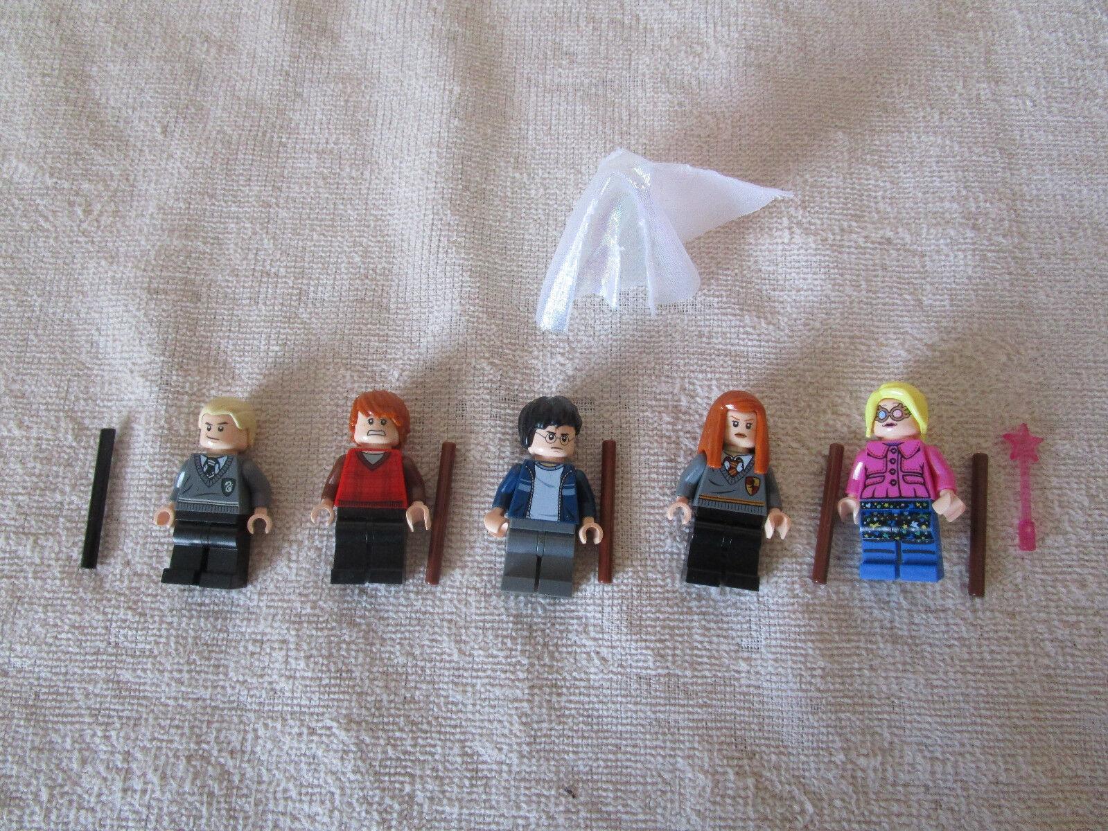 Lego Harry krukmakare HOGWkonstS UTTRYCKT 4841 KOMPLETTERANDE SET AV MINIMIGURES ALL 5