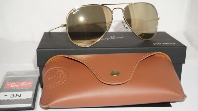 50f1594b8a8b8 RAY BAN New Sunglasses Aviator 24K Carat Gold Only 500 Limited RB3025 135