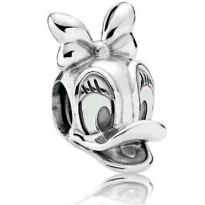Donald Duck /& Daisy Duck Disney Silver Plated Charm fits European Charm Bracelet