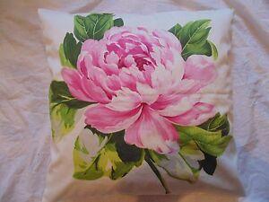 Designers-Guild-Floral-100-Tela-de-Algodon-Charlottenberg-Peonia-Funda-de-Cojin