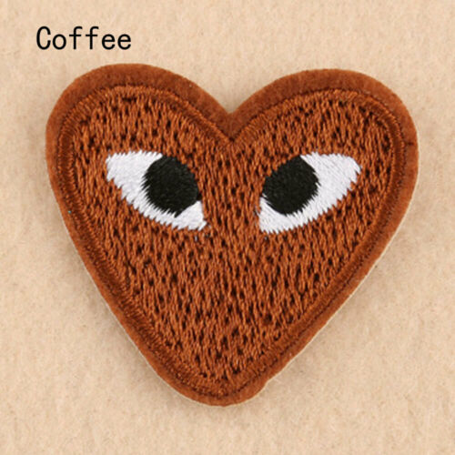 5PCS Love Hearts Eyes Embroidery Badge Iron on  Patches for Clothes Applique DIY