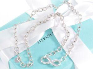 210658aa0 $350+ Tiffany & Co Silver Infinity Large Heavy Link 18