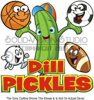 CHOOSE YOUR SIZE Dill Pickles DECAL Food Truck Vinyl Sign Concession Sticker