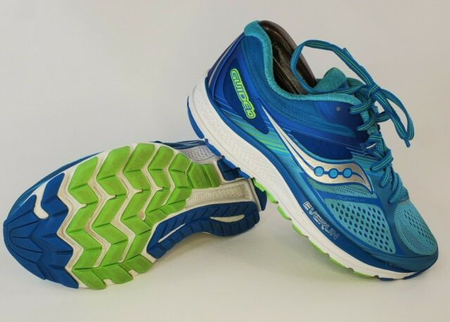 Saucony Guide 10 Everun Blue Aqua Silver Womens Running Shoes Size 6.5 S10351-1