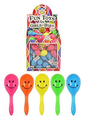 New Mini Smiley Maracas Kids//Children Party Bag Filler// Shaking Rattle Fun Toys