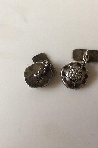Manchetknapper, sølv, Evald Nielsen Sølv 830S