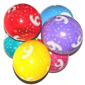 6th-Joyeux-Anniversaire-Dinosaures-ballons-latex-numero-imprime-age-Fete-Deco
