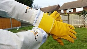 2xl Agriculture & Forestry Beekeeper Gloves Bee Gloves Beekeeping Gloves Cowhide Ventilated Gloves