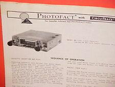1975 BOMAN ASTROSONIX 4-TRACK TAPE PLAYER/AM-FM/MPX RADIO SERVICE MANUAL BM-1335
