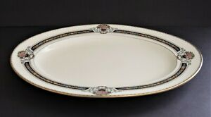 "Rosenthal Bavaria Orelay Ivory  with Blue 13"" Oval Serving Platter"