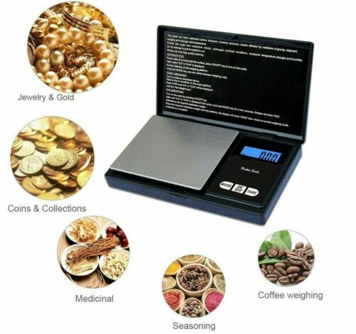 Digital Mini Scale 0.01 To 500G Kitchen Jewelry Salter LCD Display Pocket Scale