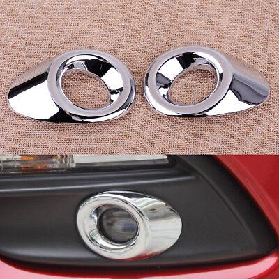 Vorne Nebelscheinwerfer Abdeckung Blenden Rahmen Chrom für Mazda 3 M3 Axela 2017