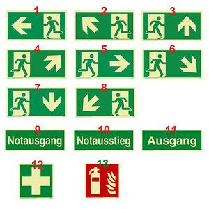 Schild Notausgang Rettungsweg Fluchtweg nachleuchtend ASR1.3 ISO7010 selbstkl.