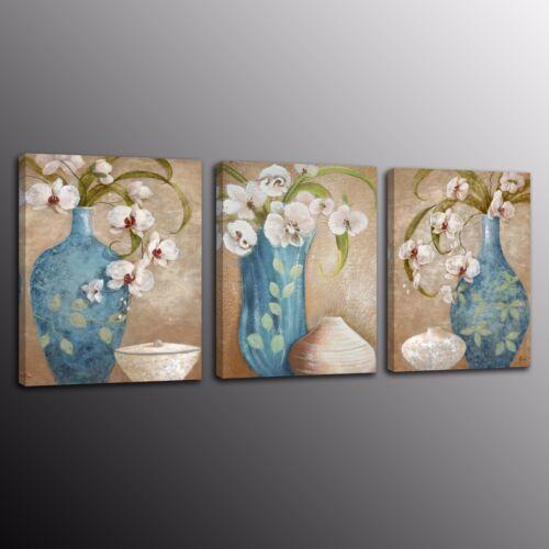 FRAMED Canvas Print Wall Art Home Decor Paingting Picture Flowers vase 3 Panels