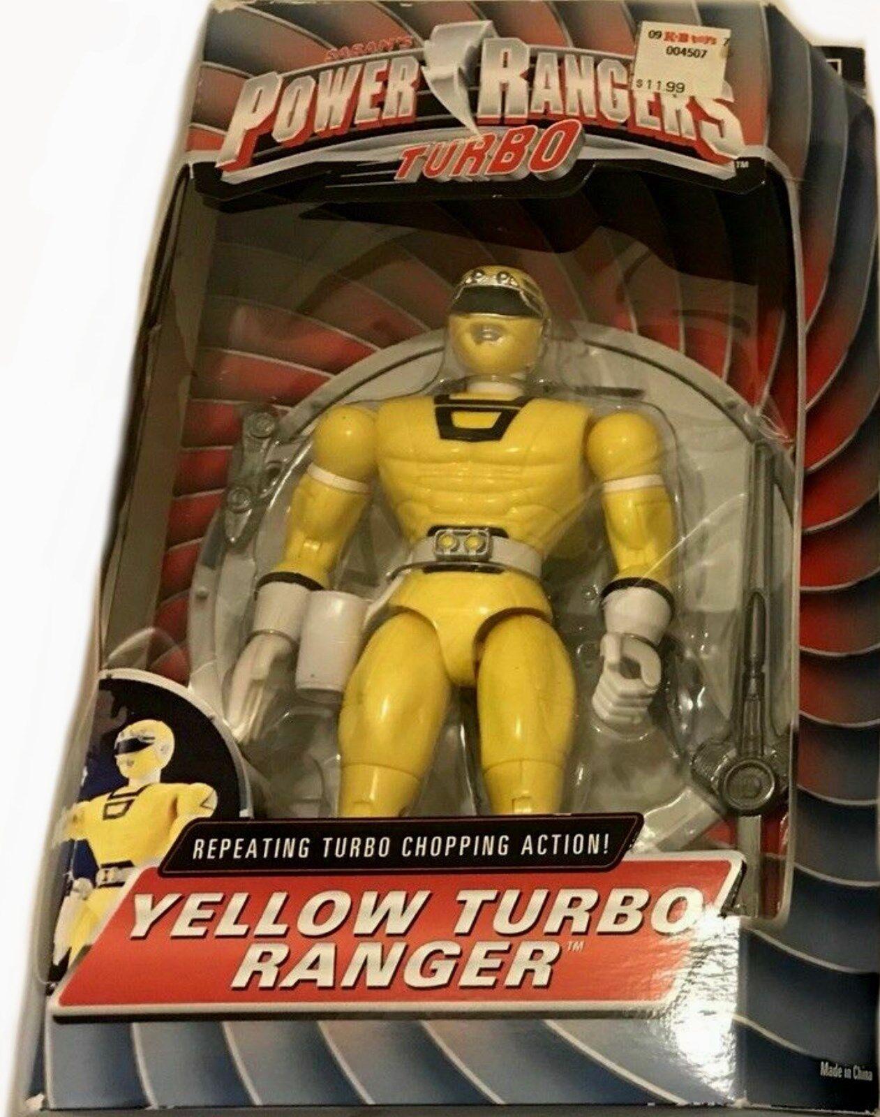 Power rangers turbo - 8  gelbe turbo ranger neue fabrik versiegelt, 1997