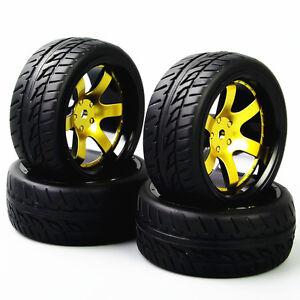 RC-4Pcs-run-Flat-Tyres-12mm-Hex-Wheel-D6NKG-For-HSP-HPI-1-10-On-Road-Racing-Car