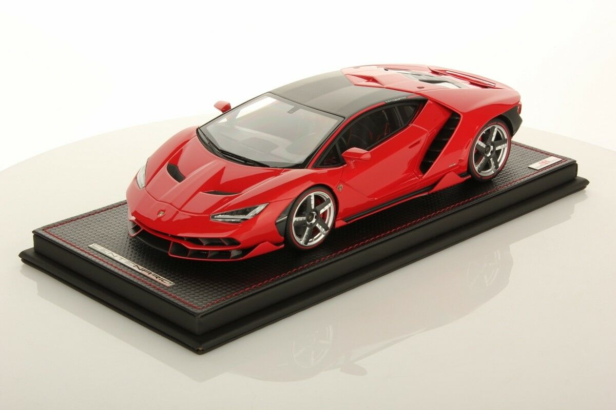 MR Collection Lamborghini Centenario rouge Mars with Showcase 1 18