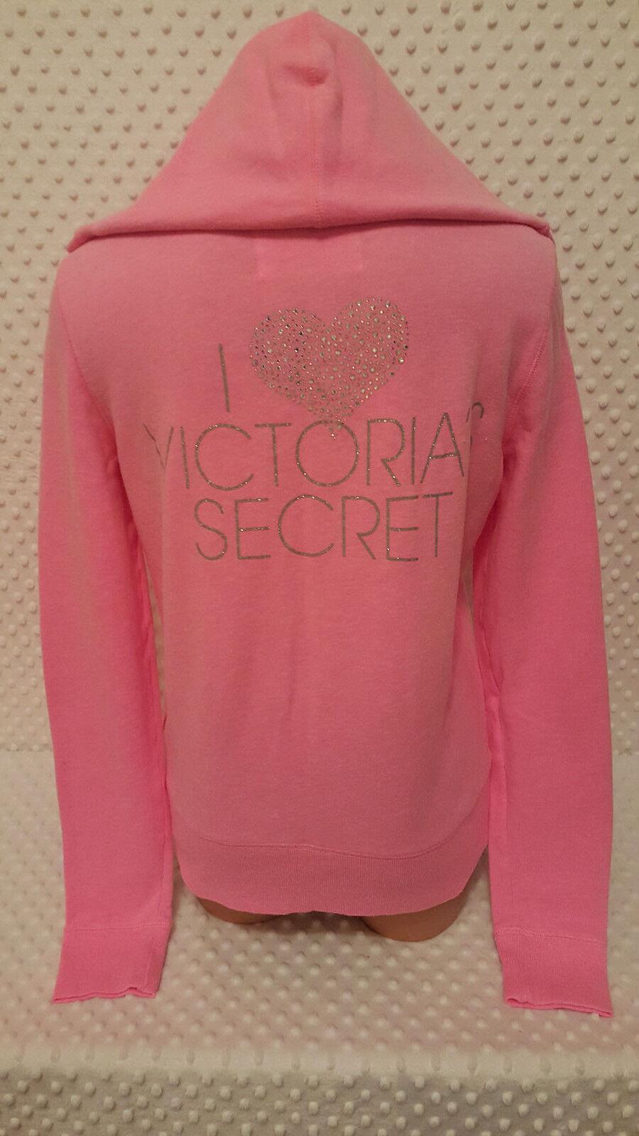 NWOT Victoria's Secret Supermodel Essentials Full-Zip Hoodie Hoodie Hoodie Pink M d394d0