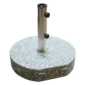 sonnenschirmst nder 45 cm rund granit grau sonnenschirm st nder 40 kg schirm ebay. Black Bedroom Furniture Sets. Home Design Ideas