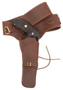 Genuine-Leather-WESTERN-cinturone-fondina-per-pistola-Peacemaker-adatto