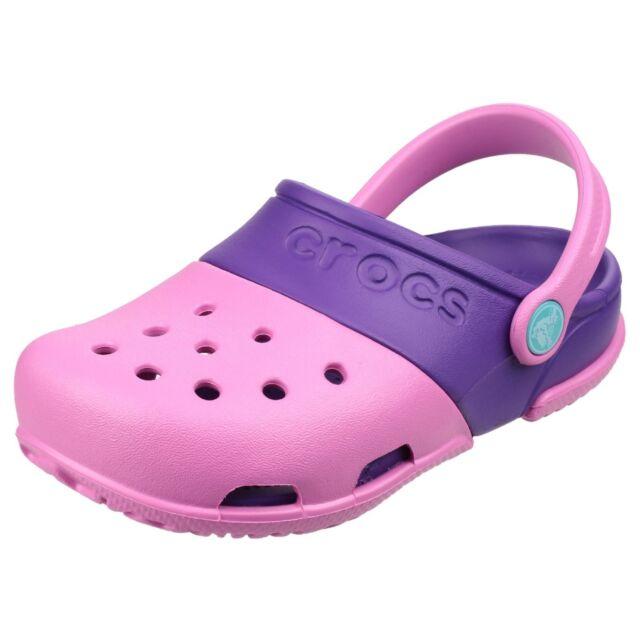 Crocs Elektro II Mädchen Clogs Sommer Strand Croslite Kinder Sandalen Schuhe
