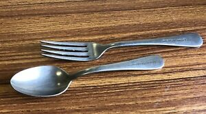 SILCO STAINLESS USA FLATWARE WALDORF CAFETARIA Spoon and Fork