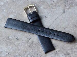 Unpadded-amp-unstitched-vintage-17mm-Genuine-Calfskin-watch-band-NOS-1960s-70s
