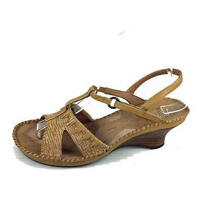 Dirigir costo Aptitud  CLARKS Artisan Collection Tan Leather Wedge Sandals 7 Med | eBay