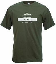 Attention seeker ADHD Adults T-shirt Don/'t let ADHD bother you