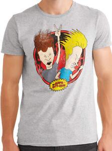 Beavis /& Butthead Classic T-Shirt Beavis /& Butthead Heavy Metal Funny Tee S-3XL