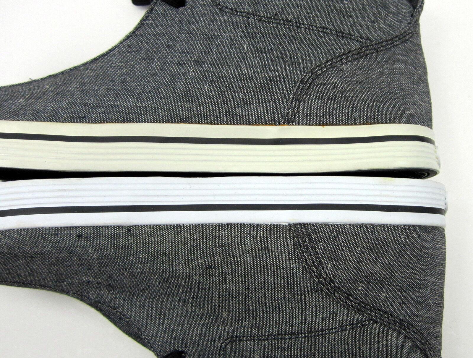 Lugz schuhe / soldat der leinwand schwarz / schuhe weiß - grau -) stiefel größe 9. 29831a