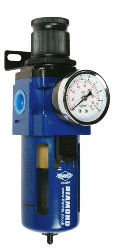 Thorite 1/2 BSP Compressed Air / Pneumatic Filter Regulator with Gauge FR308G