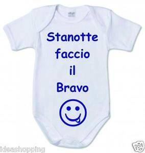 incontrare design popolare stile distintivo Dettagli su BODY bambino BIANCO IN COTONE CON FRASE SIMPATICA
