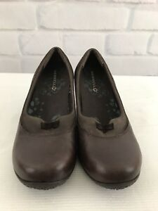 Merrell Lotus Women s Roast Wedge Slip On Shoes Leather Sz 7.5 ... 8cea5e6dc