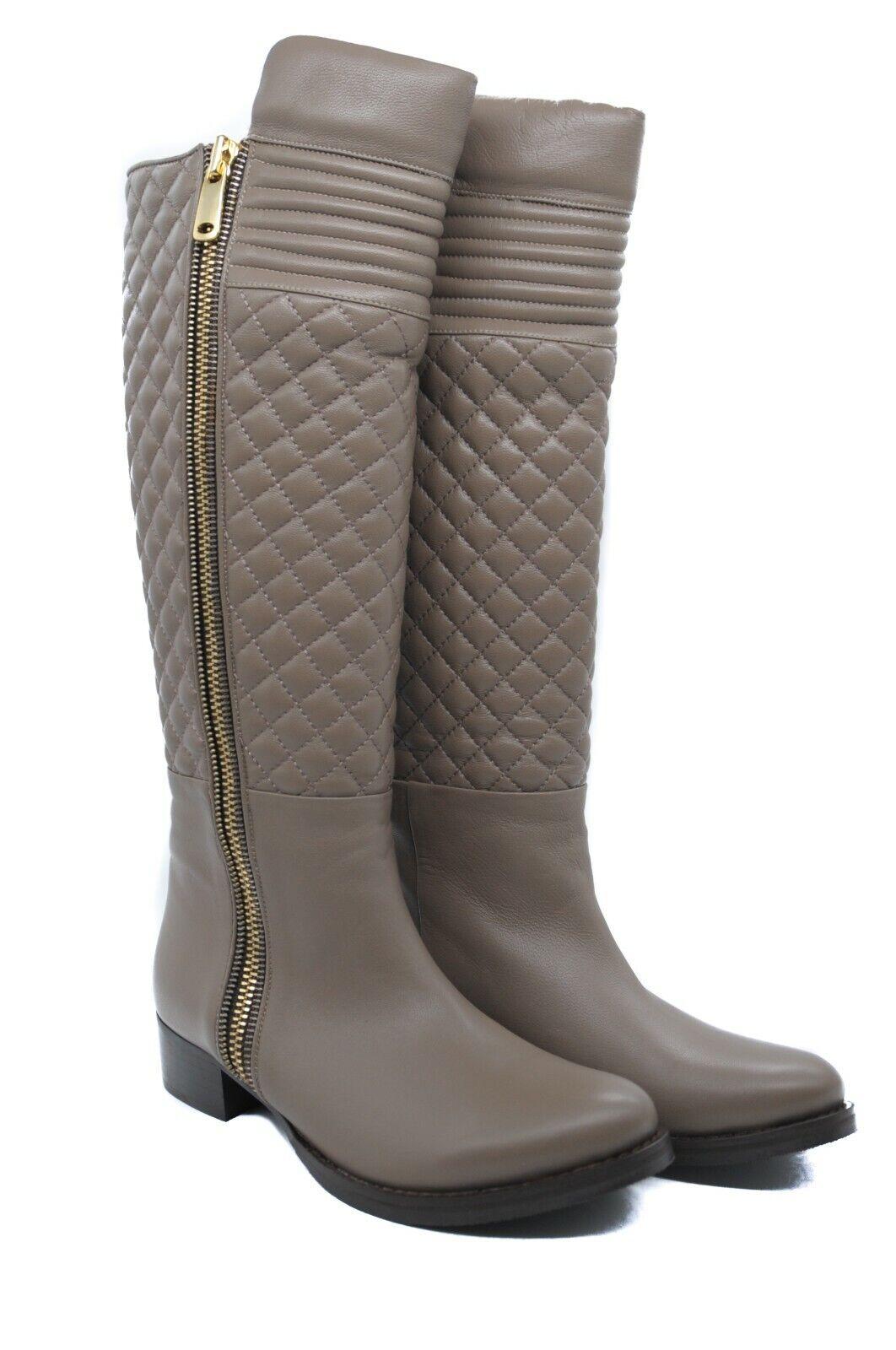 Goody 2 zapatos Mujer Cuero Beige botas Hasta La Rodilla Acolchada estilo de conducción
