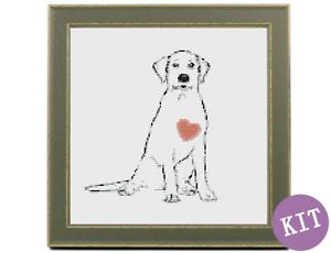 Love-My-Labrador-Dog-Cross-Stitch-Kit