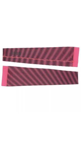 Rapha Cycling Arm Screens Pink//black Stripes-NewW Tag! LINES-Medium