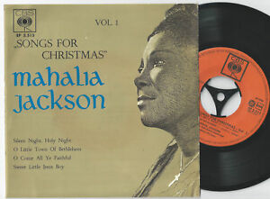 Details about MAHALIA JACKSON Silent Night Dutch EP 45PS 1962 Songs For  Christmas Vol 1