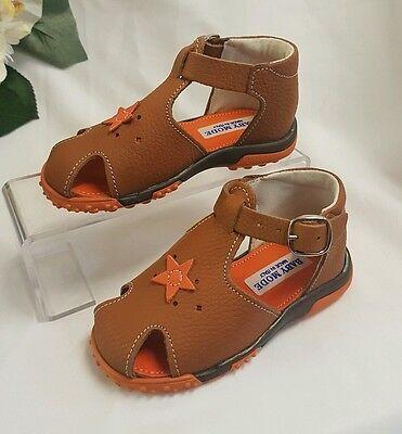 KINDER Junge Mädchen Baby SCHUHE Sandalen Made Italy Braun 101F Gr 21