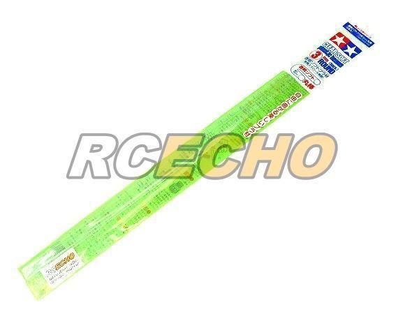 Tamiya Model Craft Tools Clear Soft Plastic Beams 3mm Round (5pcs) 70159