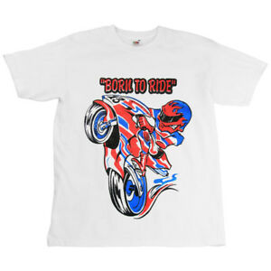 Born-To-Ride-Motorcycle-Childrens-Kids-T-Shirt-White