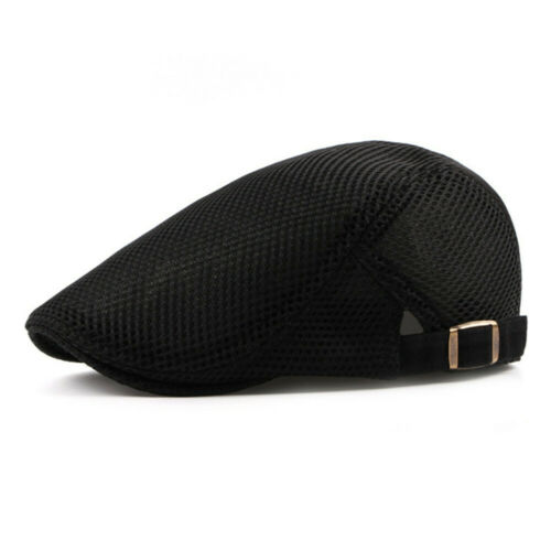 Summer Men/'s Beret Breathable mesh Gatsby cap Newsboy hat Cabbie Flat Cap